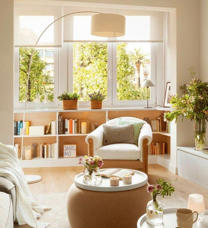 1001 conseils et id es pour am nager un salon blanc et beige guardaropa y pasillos. Black Bedroom Furniture Sets. Home Design Ideas