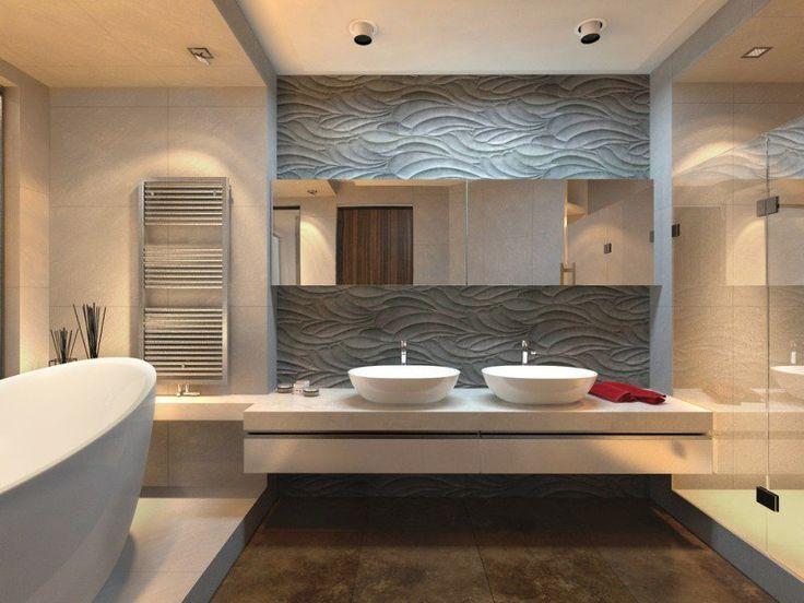 Idée décoration Salle de bain u2013 carrelage mural salle de bain et mur - enduit salle de bain