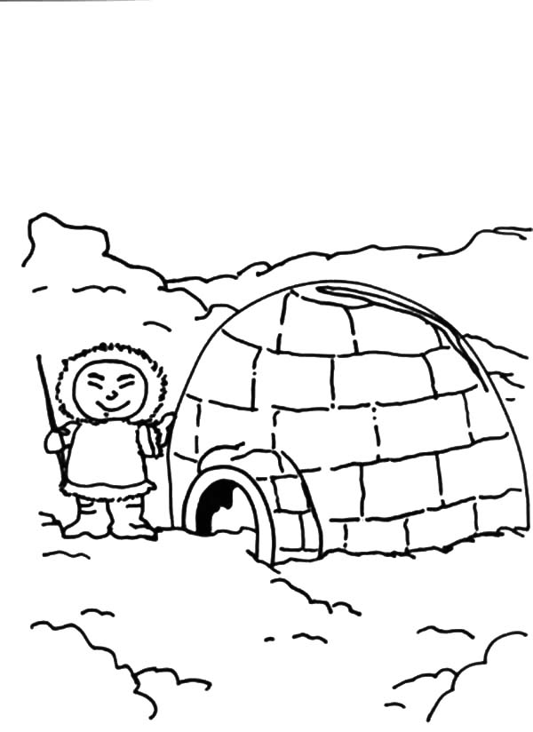 Pin Di Igloo Coloring Pages