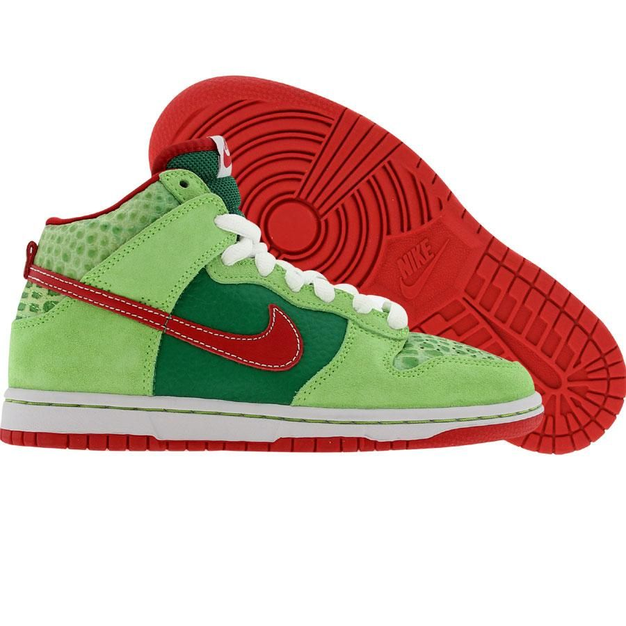 outlet store 1d2ff 1ecb4 Nike Dunk High Pro SB - Motley Crue Dr. Feelgood Edition (forest  varsity  red).