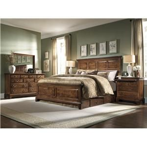 Cherry Traditions King Headboard u0026 Footboard Bed with Under Bed Storage Unit by Kincaid Furniture - Knoxville Wholesale Furniture - Headboard u0026 Footboard ...  sc 1 st  Pinterest & Home | Pinterest | Wholesale furniture Kincaid furniture and Bed ...