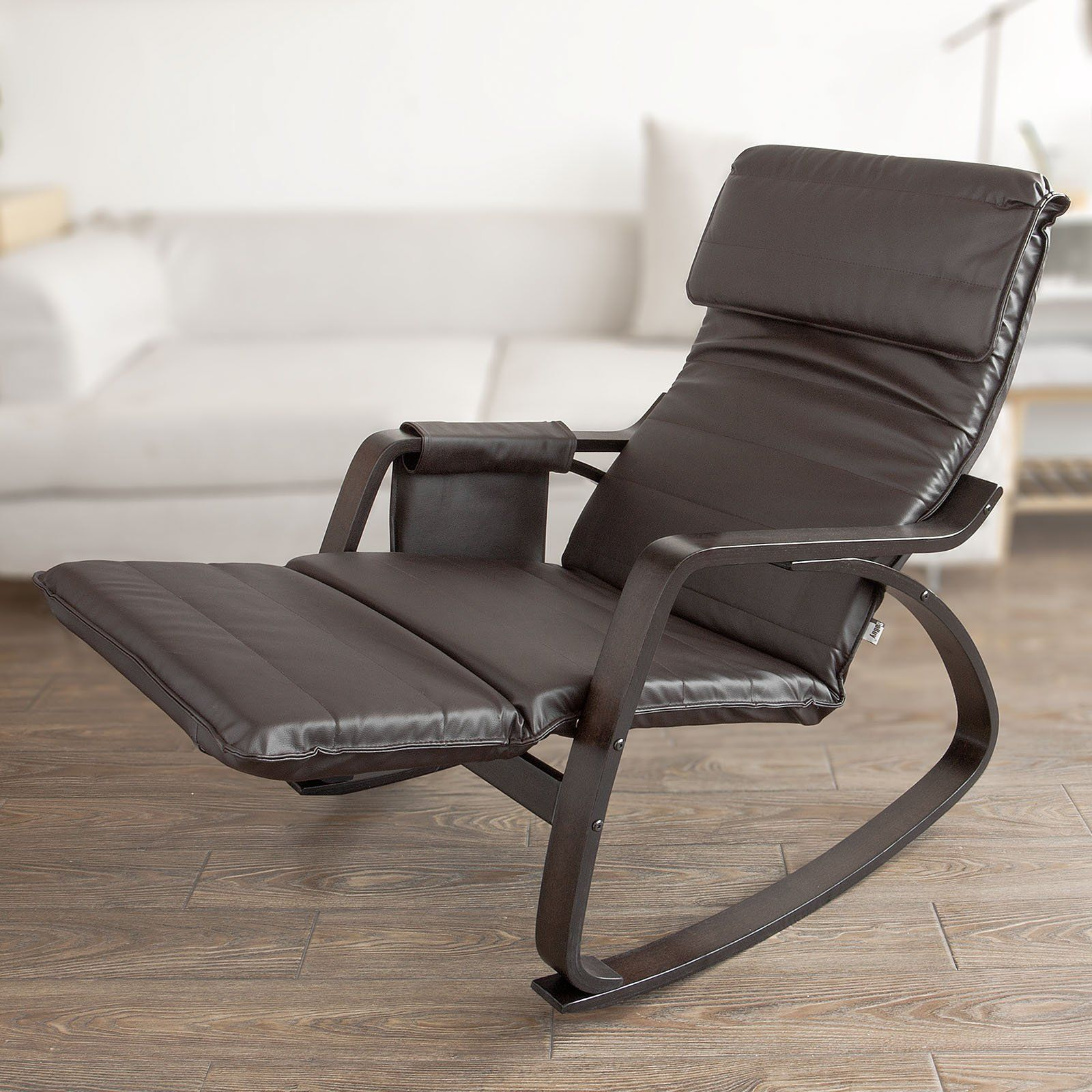 rocking chair footrest dinning table chairs sobuy comfortable relax gliderslounge recliners with adjustable hashtag