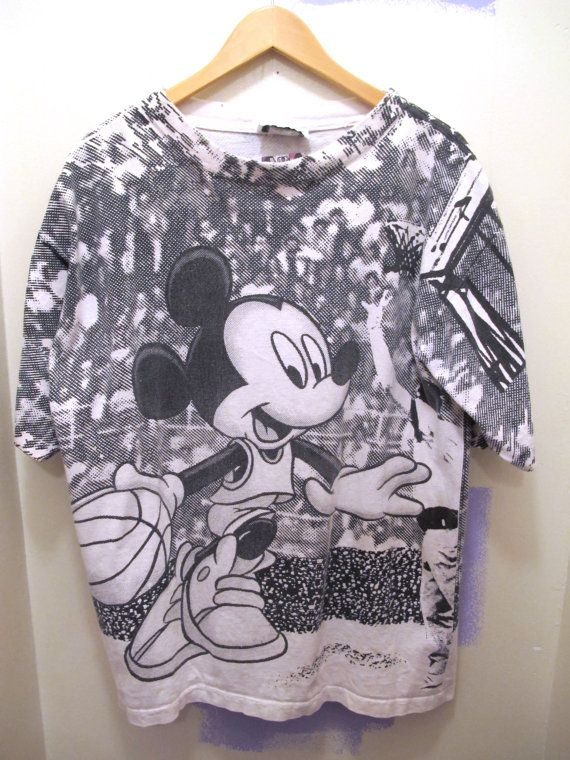 9087cf62a Vintage All Over Print Mickey Mouse T shirt Disney by kokorokoko, $22.00