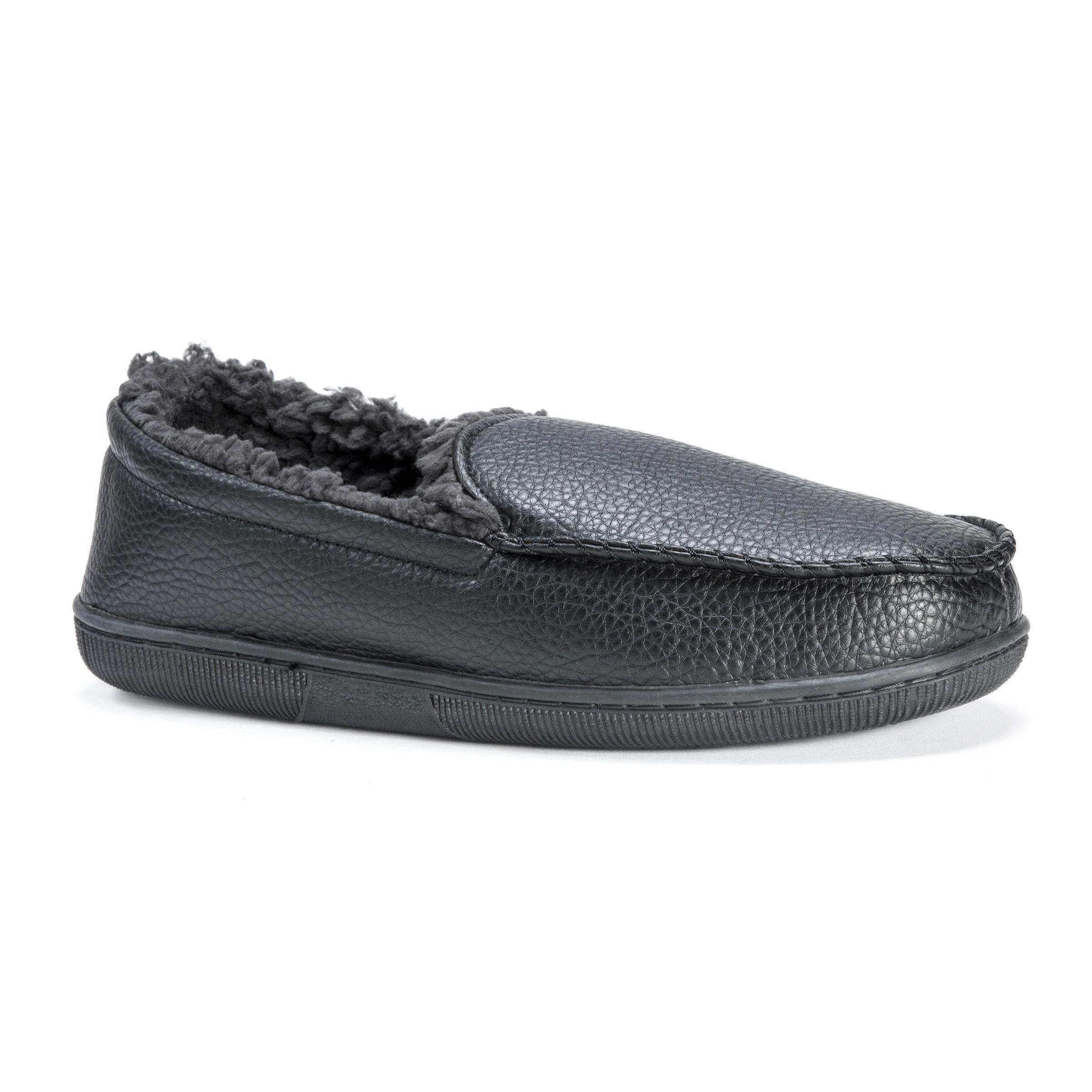 Muk Luks Men's /Polyurethane Moccasin Slippers