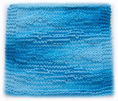 Free Knit Washcloth Pattern Wave Pattern Motif Knitting