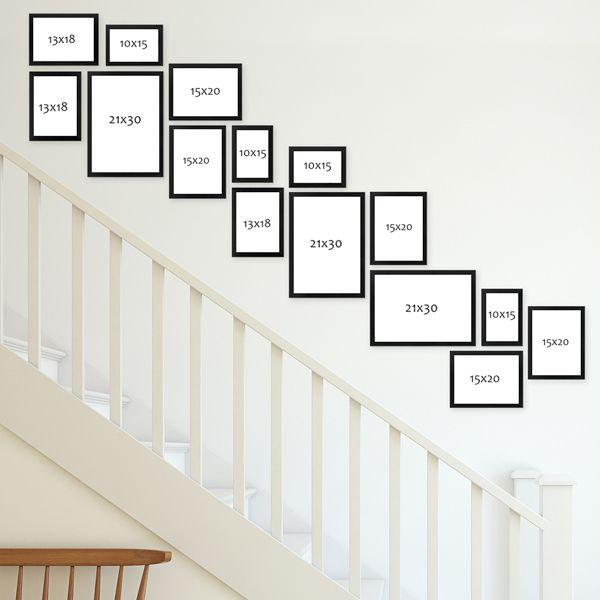 Wandgestaltung Treppenaufgang Gestalten: Bilderrahmen Im Treppenaufgang