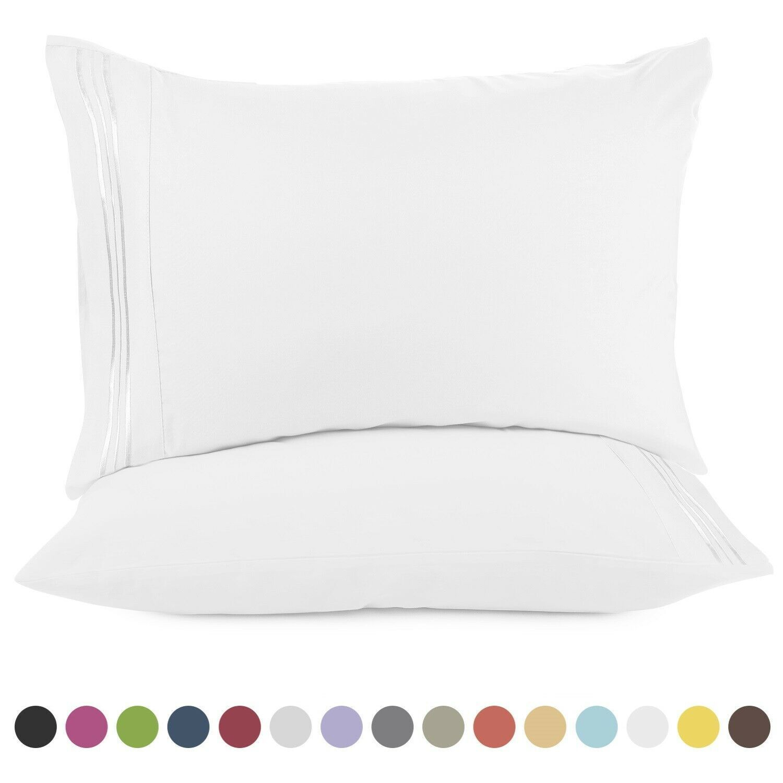 1800 Pillow Case Set Standard Or King Ultra Soft Pillowcase Set Of 2 Pillowcases Ebay Pillow Case Sets Soft Pillowcase Pillow Cases