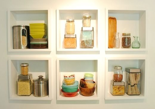 built in kitchen shelves | bev cooks