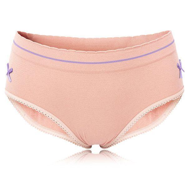 M-L Women Breathable Soft Bamboo Fiber Panties Seamless Mid Waist Underwear