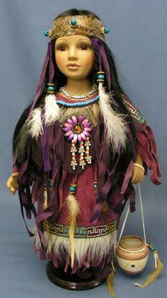 Cherokee Porcelain Dolls Dolls Porcelain Dolls For Sale Indian Dolls Collector Dolls