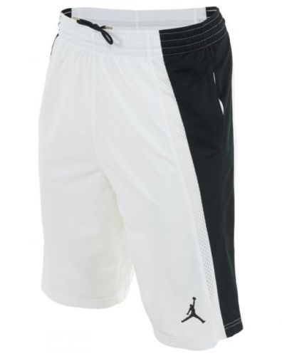 2da119a85ab1 Nike-Air-Jordan-Basketball-Shorts-NWT-Sz-2XL-XXL-White-Black -642321-100-SALE-Fly