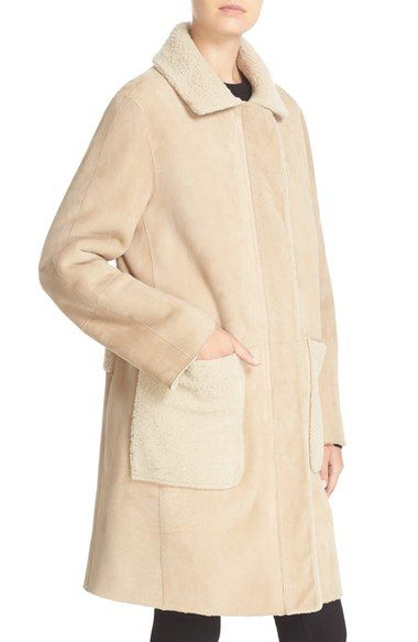 RAG & BONE Sora Reversible Genuine Shearling Coat. #ragbone #cloth #