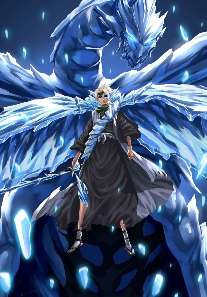 Toshiro's hollow bankai | Bleach - Shinigami | Pinterest ...