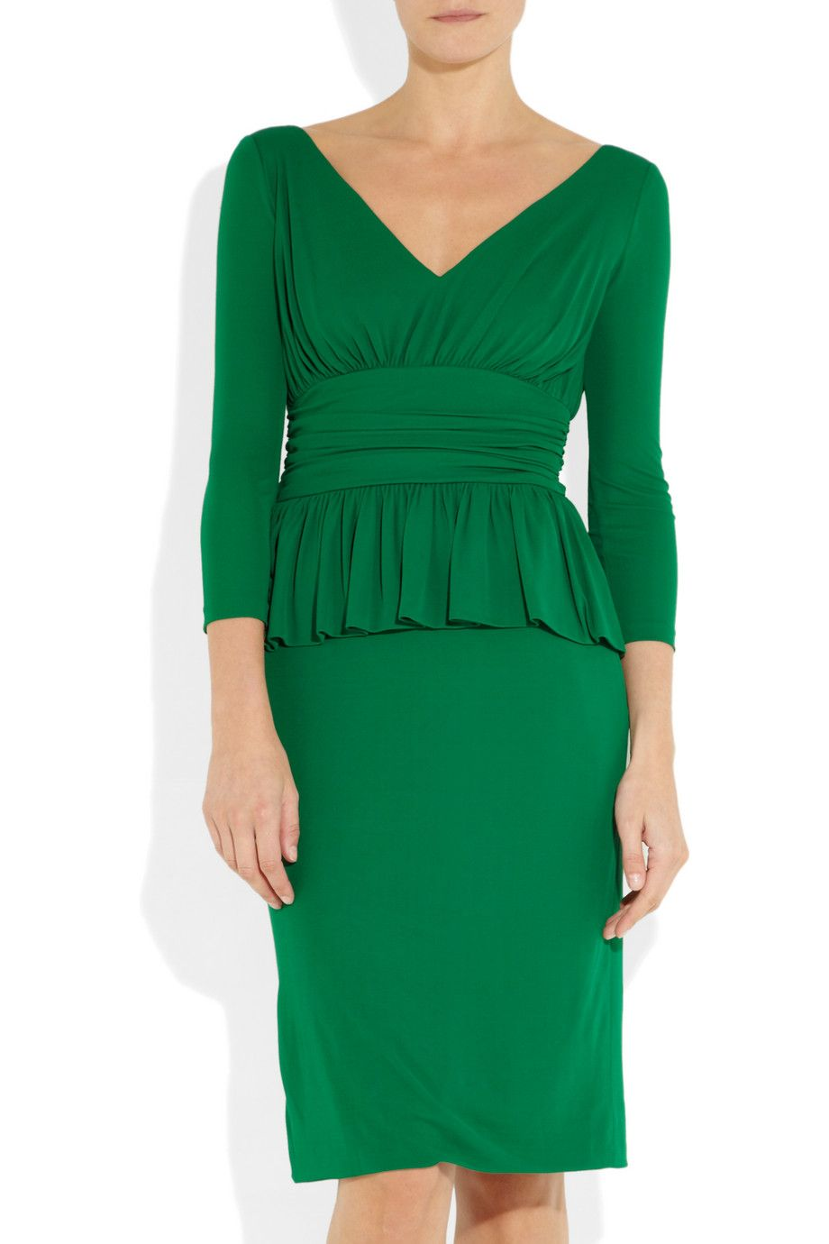Makeup with emerald green dress  Peplum dress by Alexander McQueen  now where did I put that extra