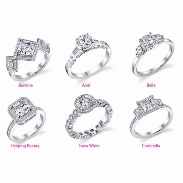 Engagement rings inspired by Disney princesses Rings with a