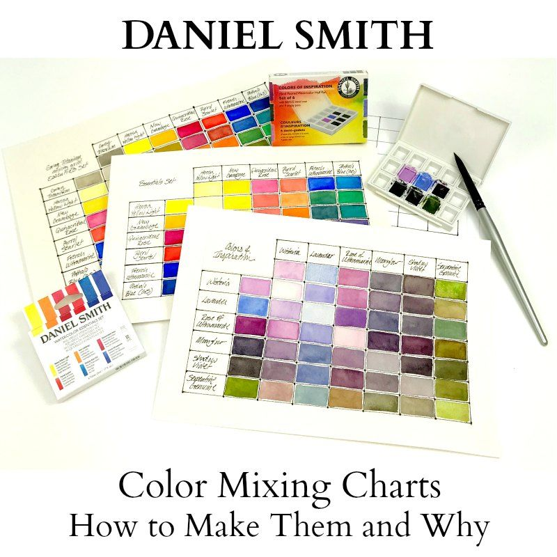Mixing Charts For Daniel Smith Colors Of Inspiration Half Pan Set