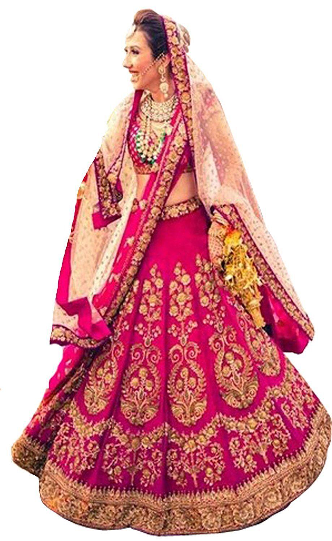 1d0b6500c Shreebalaji Enterprise Women S Chiffon Cotton Silk Lehenga Choli (Pink)   Amazon.in  Clothing   Accessories