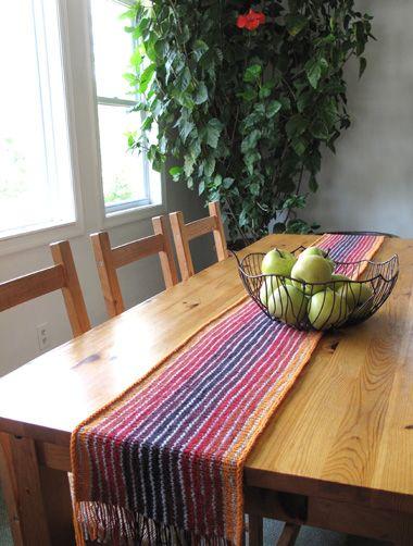 Knit Table Runner From Moorehouse Knit Wit Pinterest