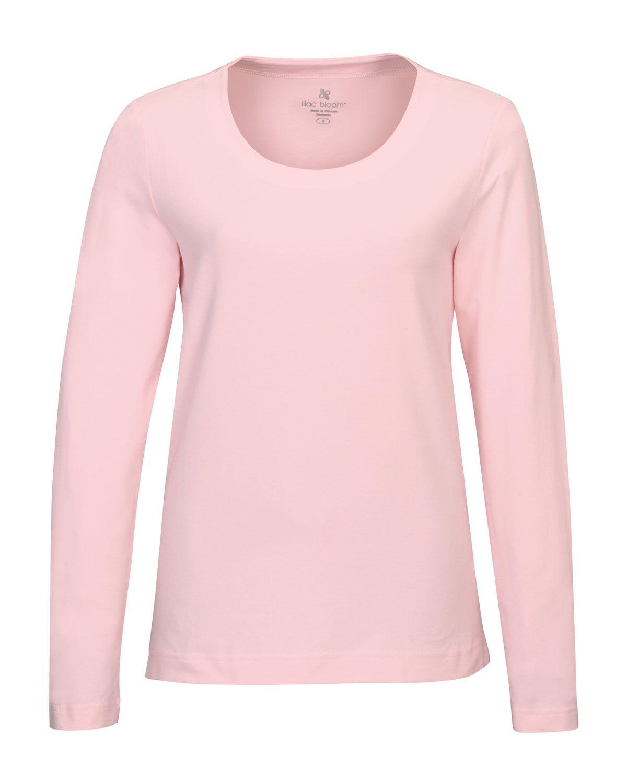Women's Long Sleeve Knit (95% Cotton 5% Spandex) Tri mountain LB135 #Trimountain   #Cotton #LongSleeve #pinktee