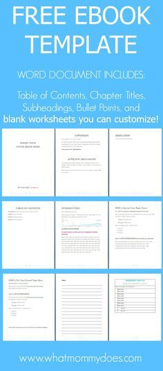 free ebook template preformatted word document writing help