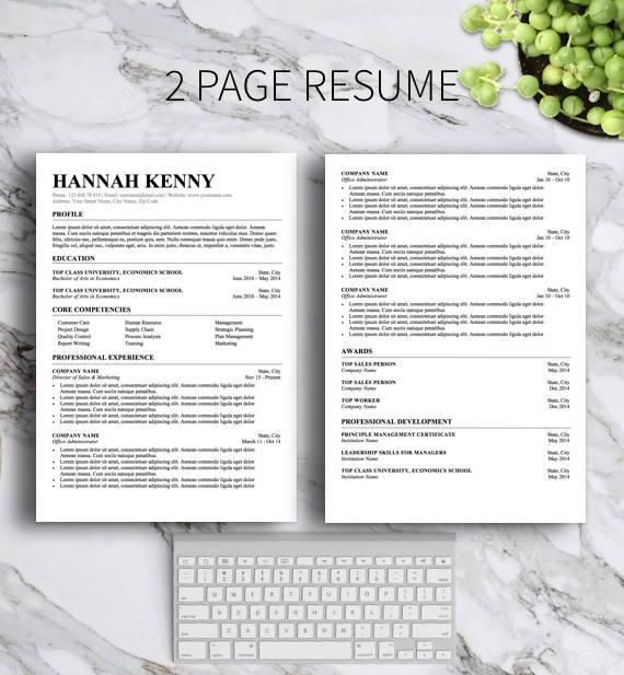 Professional Resume Template For Ms Word