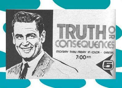 December 31 Bob Barker Makes His Tv Debut As Host Of The Game Show Truth Or Consequences Truth Or Consequences Game Show Tv Show Games