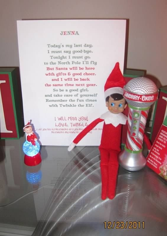 Elf on the Shelf Goodbye Letter christmas crafts