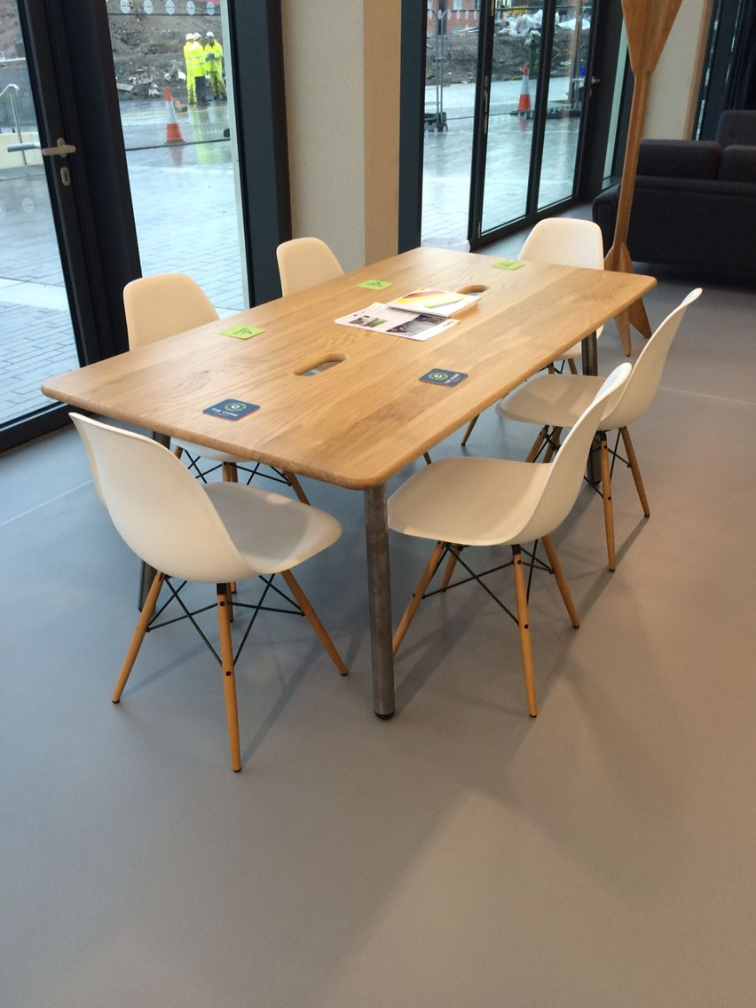 Deadgood Working Girl Table With Vitra Eames DSW Chairs Girls NewcastleEamesOffice FurnitureDining