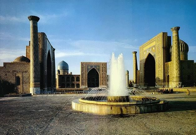 Samarkand on the Silk Road, Islamic architecture, gorgeous blue mosaics, a slice of history