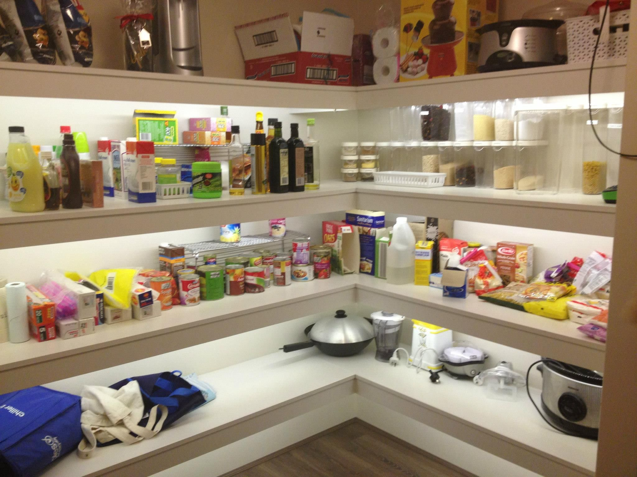 LED Strip Lighting In The Pantry