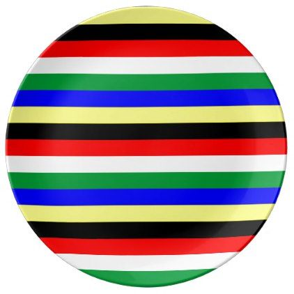 South africa flag stripes lines symbol porcelain plate negle Image collections