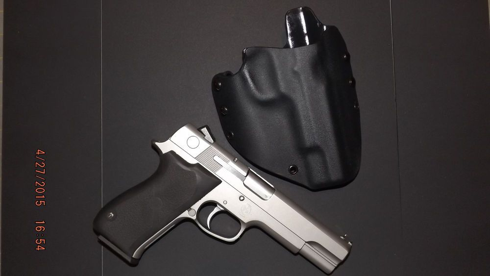 Kydex Holster Smith and Wesson 4506, 4546 (OWB) Black Right handed