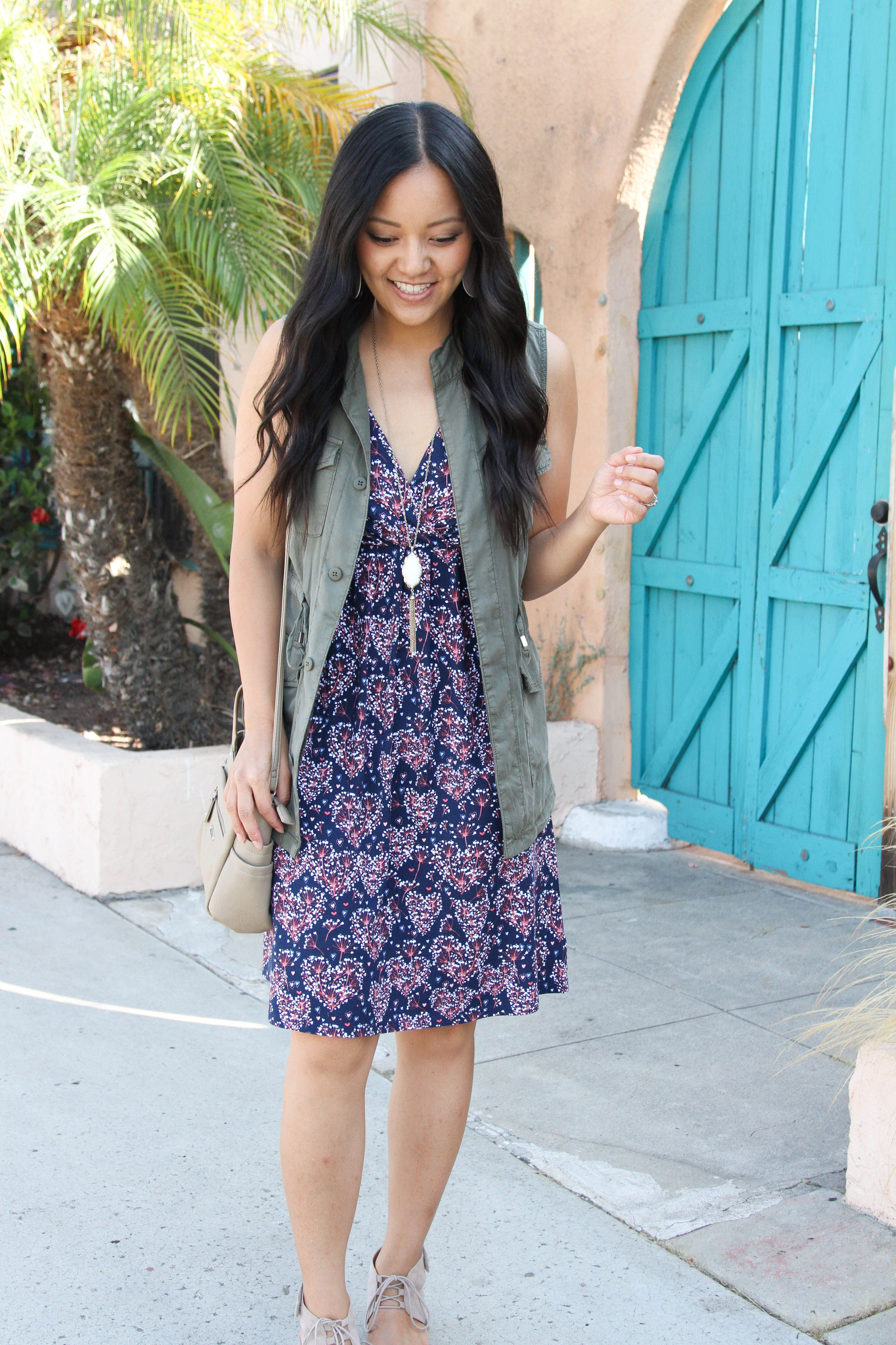 e187ca2f29a3 Two Fall Outfits with a Dress - How to Style it Now and Later | PMT ...
