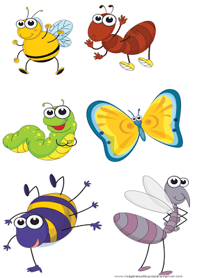 abeja mariposahormiga gusano  Dibujos  Pinterest  Gusanito
