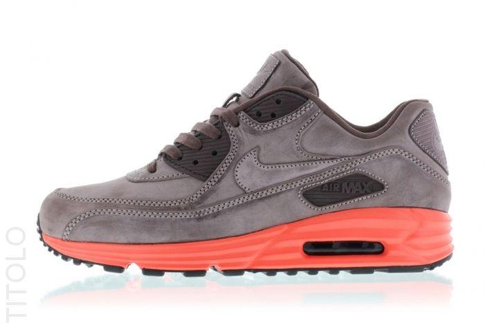Nike Air Max Lunar90 Leather QS Mahogany/Mahogany Bright Crimson Pebble Red