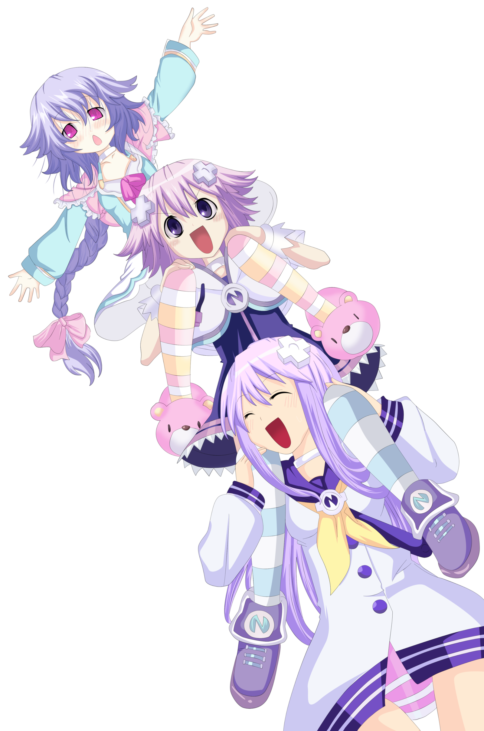 Neptune, Nepgear, Pururut Commission 1 Coloring by