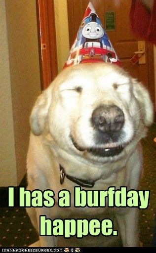 burfday happee to me!!!