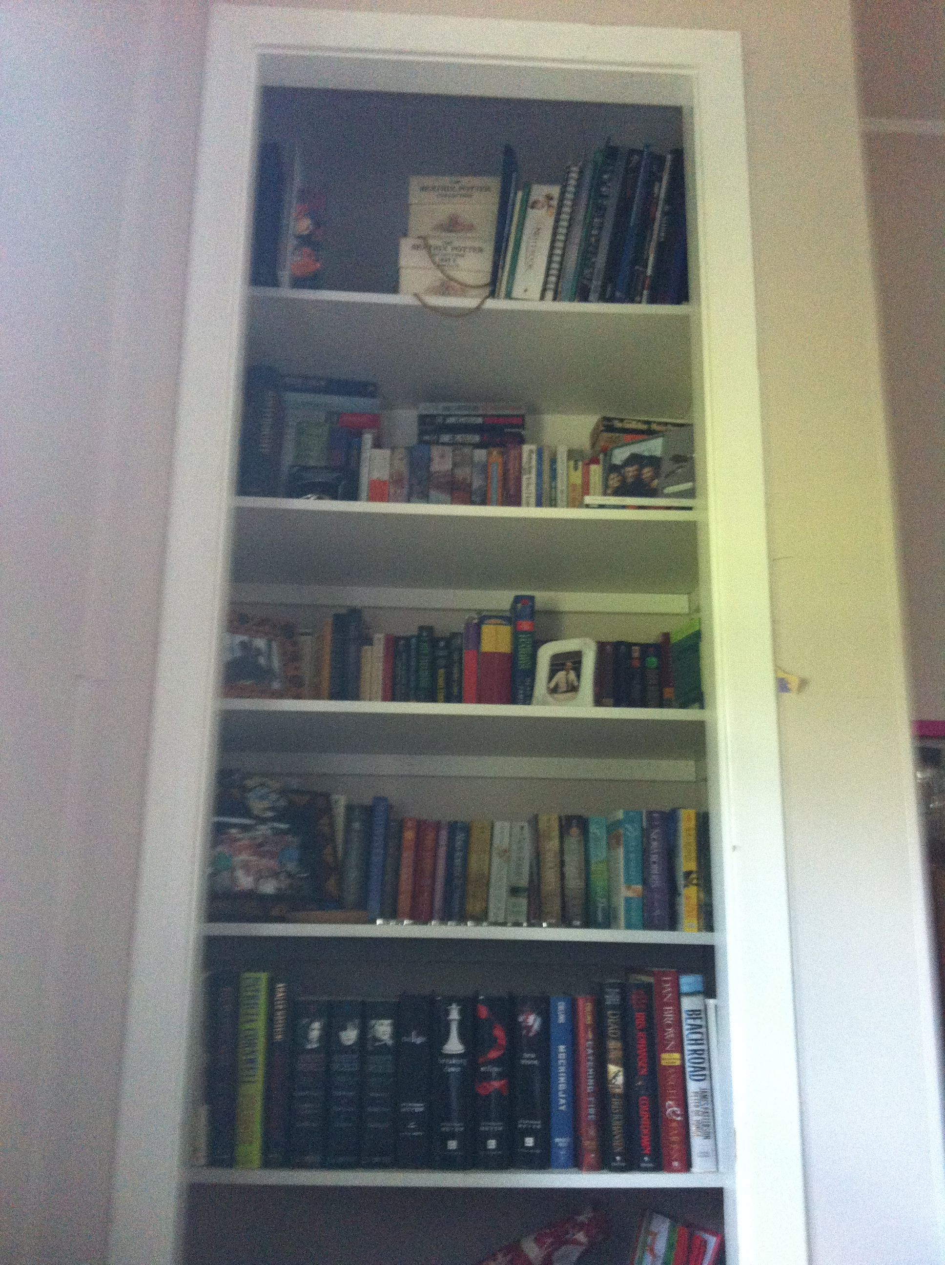 An Old Built In Closet Transformed Into An Office Bookcase