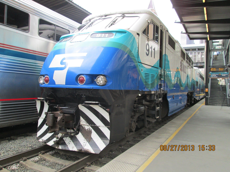 Railfanning In Seattle King Street Station Trens