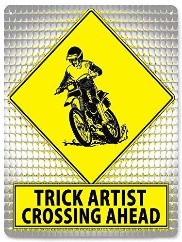 MOTORCROSS DIRT BIKE street metal sign MANCAVE motorcycle funny boys ...