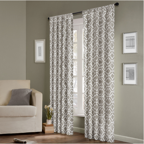 awesome with trellis curtains design panel blue curtain pocket rod inch unique drapes