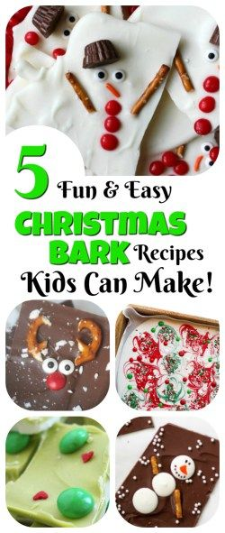 Christmas Recipes For Kids.Christmas Bark Kids Can Make 5 Fun Ideas Holiday Treats