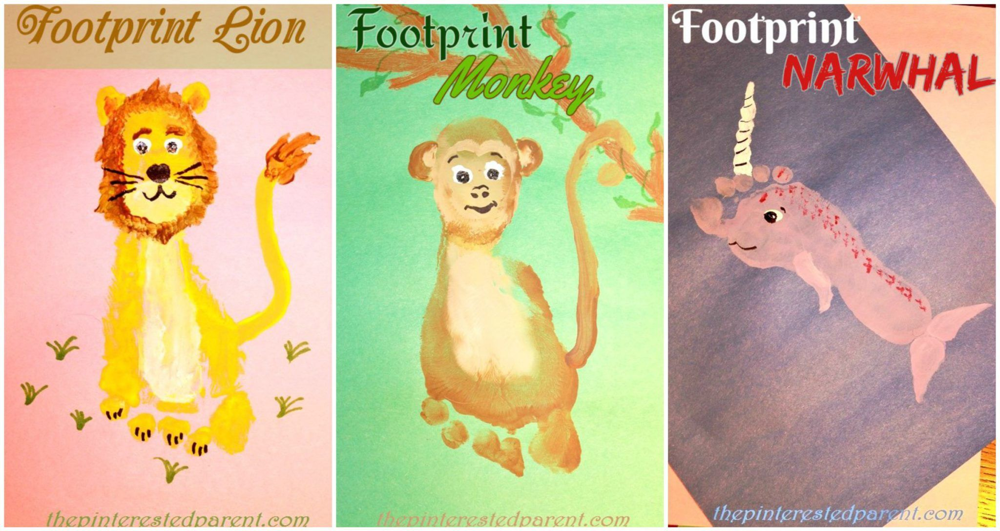 Footprint Animals From A Z Featuring L M Amp N