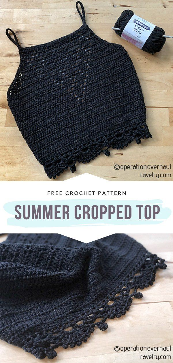 Chic Boho Crop Tops with Free Crochet Patterns