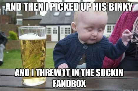 Fregging hilarious!! Drunk babies are funny!