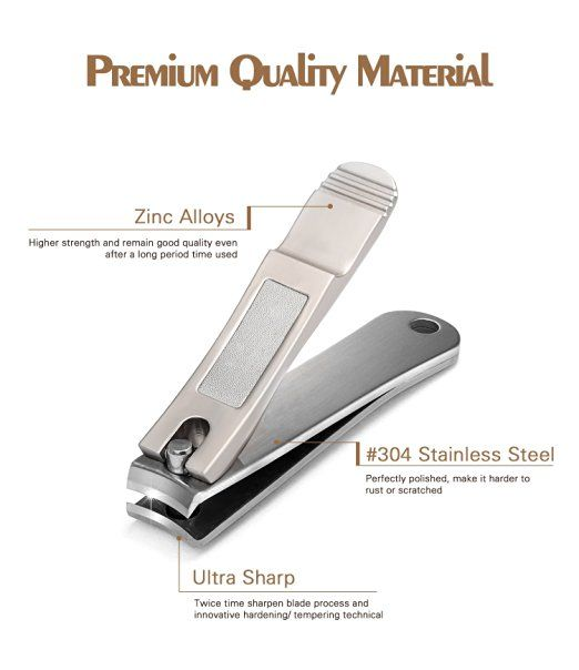 Nail Clippers Set Fingernail Toenail Cutter By Hfun Professional