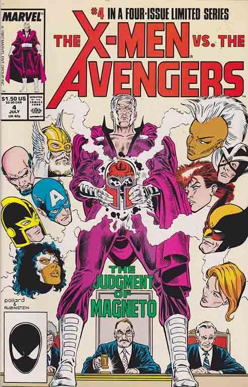 The X Men Vs The Avengers 1987 Rare X Men Vs The Avengers X Men Vs The Avengers Comic Books X Men Vs The Avengers Comic Books Marvel Comics Covers Comics