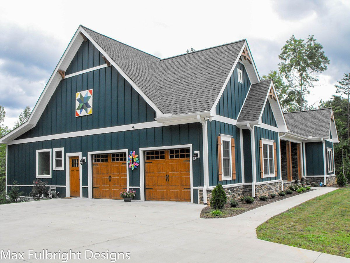 One or Two Story Craftsman House Plan in 2020 | Farmhouse ...