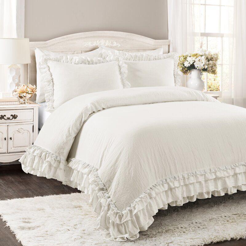 Esai Shabby Elegance Ruffle Lace Comforter Set In 2020 Comforter Sets Comforters Luxury Comforter Sets