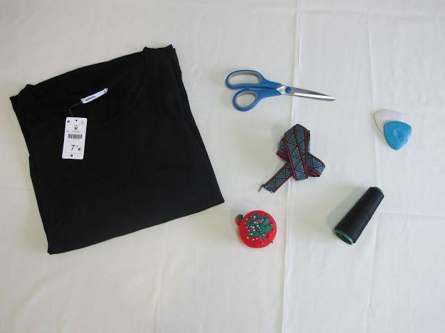 DIY Aires aztecas para una sencilla camiseta